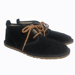 UGG Maksim Chukka Boots Black Suede Leather